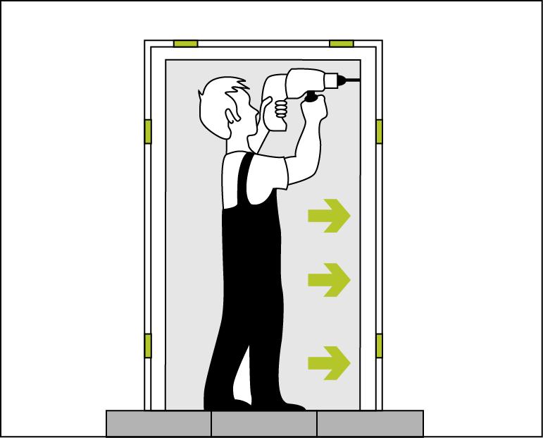 Schritt 3 – Türrahmen verschrauben