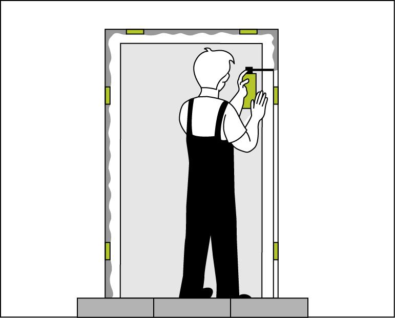 Schritt 4 – Laibungsfuge ausschäumen
